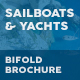 Sailboats and Luxury Yachts Bifold / Halffold Brochure
