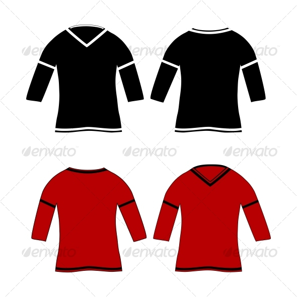 T-shirts design template (front & back) - Retail Commercial / Shopping