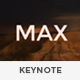 MAX Fresh Looking Keynote Template - GraphicRiver Item for Sale