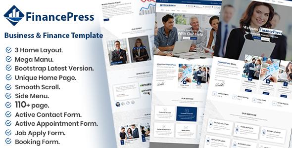 FinancePress - Business and Finance HTML Template