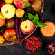 Healthy colorful food selection: fruit, vegetable, superfood, - PhotoDune Item for Sale