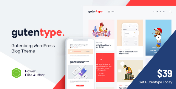 Gutentype | A Trendy Gutenberg WordPress Theme for Modern Blog