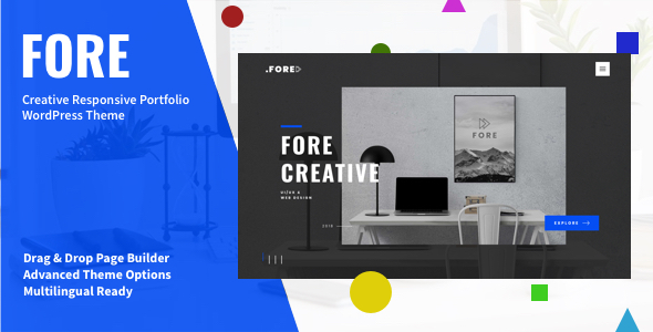 Fore - Fresh Concept WordPress Theme for Creatives - Portfolio Creative