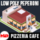 Low Poly Peperoni Pizzeria Cafe - 3DOcean Item for Sale