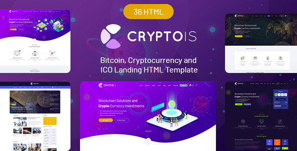 Cryptois - Bitcoin, Cryptocurrency and ICO Landing HTML Template - Technology Site Templates