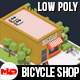 Low Poly Bicycle Shop - 3DOcean Item for Sale