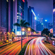 Street traffic in Hong Kong at night - PhotoDune Item for Sale