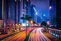 Street traffic in Hong Kong at night - PhotoDune Item for Sale