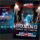 Boxing Muay Thai Postcard - GraphicRiver Item for Sale