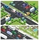 Isometric Urban Traffic Composition