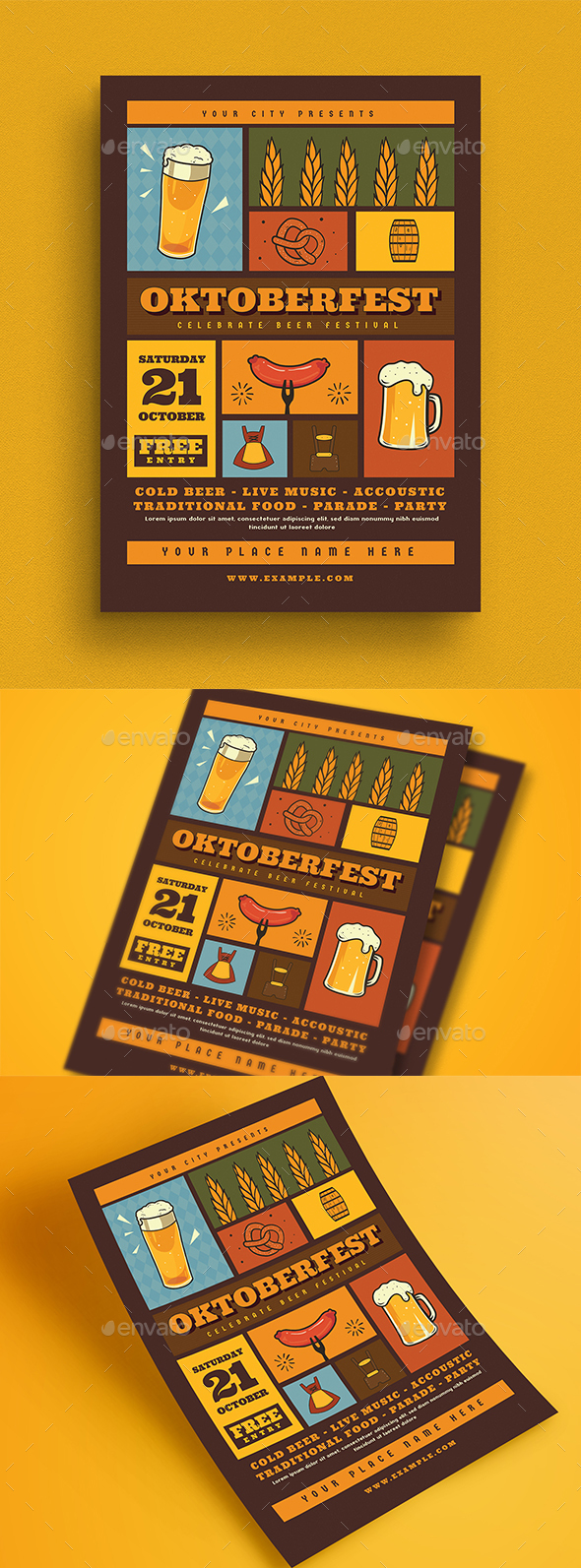 Oktoberfest Event Flyer - Events Flyers