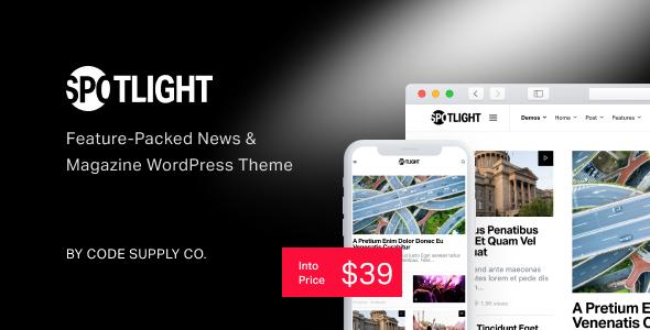 Spotlight - Feature-Packed News & Magazine WordPress Theme