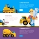 Construct Machines Web Banners - GraphicRiver Item for Sale