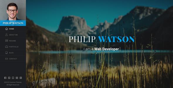 Resume Portfolio | Watson - Portfolio / Resume / CV / vCard Template