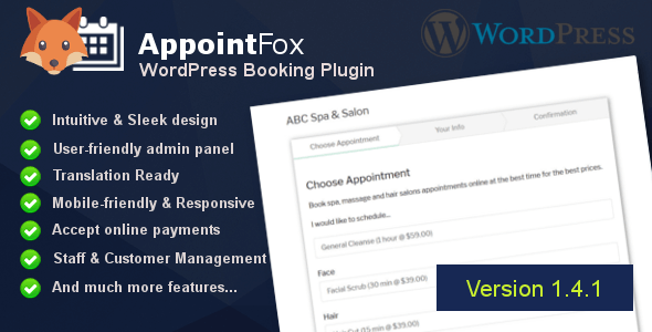 AppointFox - WordPress Appointment Booking & Scheduling System