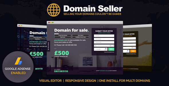 Domain Seller - Domain For Sale PHP Landing Page - CMS Themes