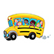 Cartoon School Bus with Happy Students - GraphicRiver Item for Sale
