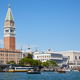Venice, Grand Canal view with Saint Mark bell tower in Italy, sunny day - PhotoDune Item for Sale