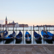 Gondolas movements and canal in Venice before sunset, Italy - PhotoDune Item for Sale