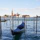 San Giorgio Maggiore island, basilica and gondola boats in Venice, Italy - PhotoDune Item for Sale