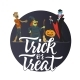 Trick or Treat - Modern Colorful Vector Poster