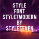 Style7ModernBold Strict Font - GraphicRiver Item for Sale