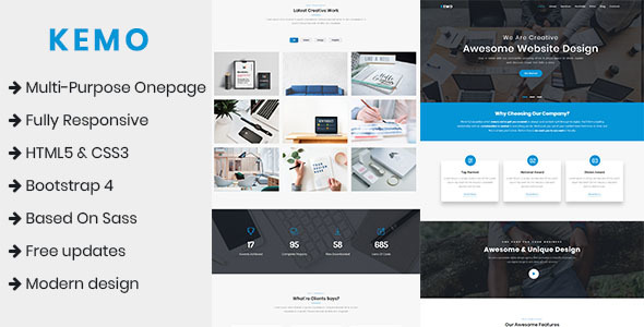Kemo - Multi-Purpose Onepage Template
