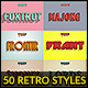 50 Retro Text Styles - Bundle vol. 01 - GraphicRiver Item for Sale