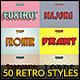 50 Retro Text Styles - Bundle vol. 01 - GraphicRiver Item for Sale