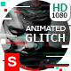 Animated Glitch Text - Logo -Image  Photoshop Template