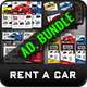 Rent a Car Advertising Bundle Vol.5  - GraphicRiver Item for Sale
