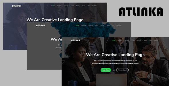 Atlinka - Responsive Bootstrap 4 Landing Template by KritThemes