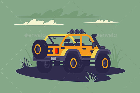 SUV in the Wild. - Man-made Objects Objects
