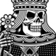 Skull Playing Cards Set in Black and White - GraphicRiver Item for Sale