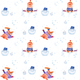 Illustration Series Winter Holidays Pigs. X-mas Seamless Pattern - GraphicRiver Item for Sale