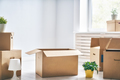 Cardboard boxes in room - PhotoDune Item for Sale