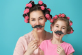 Mother and her daughter with a paper accessories - PhotoDune Item for Sale