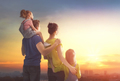 happy family at sunset - PhotoDune Item for Sale