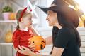family celebrating Halloween - PhotoDune Item for Sale