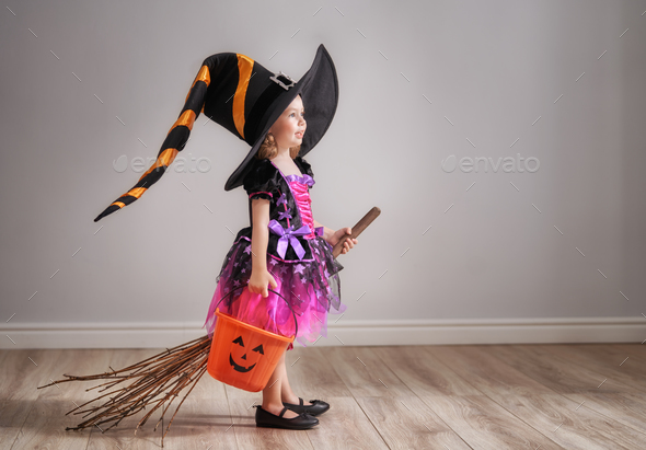 child on Halloween - Stock Photo - Images