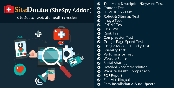 SiteDoctor - A SiteSpy Add-on : Website Health Checker - CodeCanyon Item for Sale