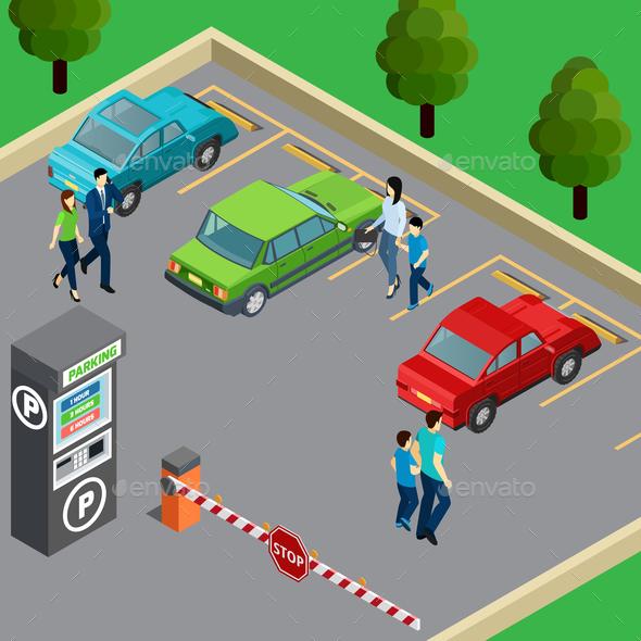 Vending Machine Isometric Illustration - Miscellaneous Vectors
