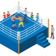 Boxing Ring Isometric Composition