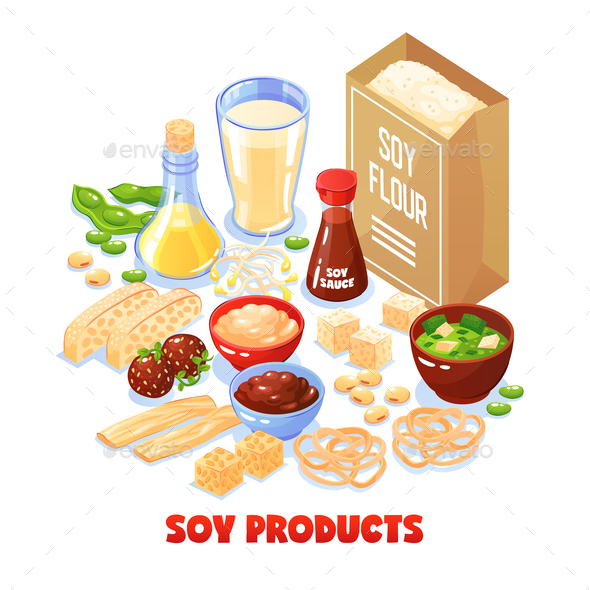 Soy Products Design Concept - Food Objects