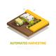 Harvesting Automatics Isometric Background