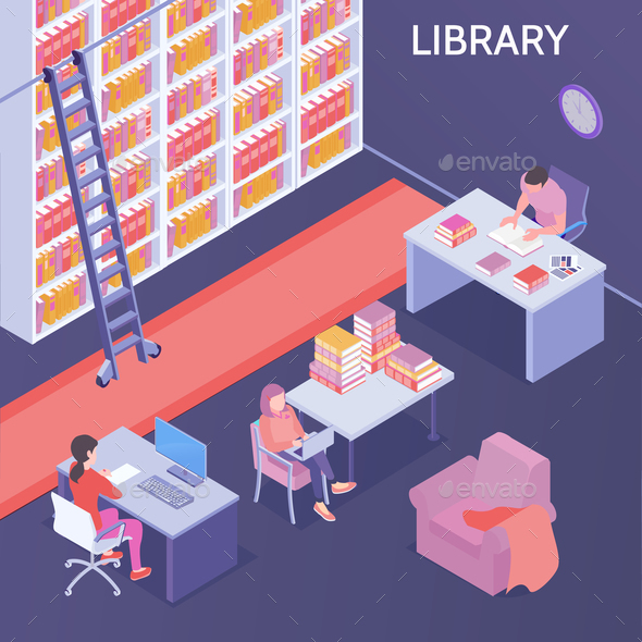 Online library Isometric Composition - Miscellaneous Vectors