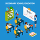Isometric Education Concept