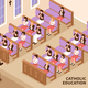 Catholic Education Isometric Illustration