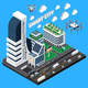 Smart City Isometric Composition - GraphicRiver Item for Sale