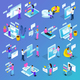 Virtual Communication Isometric Icons - GraphicRiver Item for Sale